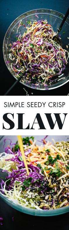 This amazing mayo-free coleslaw recipe goes great with everything! You're going to love it. - http://cookieandkate.com
