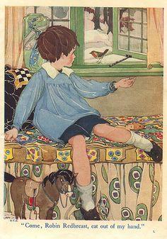 Our Tots Bumper Book.illustration by Jessie Wilcox Smith. Vintage Children's Books, Vintage Art, Children's Book Illustration, Book Illustrations, Nursery Rhymes, Vintage Images, Oeuvre D'art, Childrens Books, Illustrators