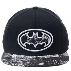 bcd4ce75b3a DC Batman Dark Knight Embossed Shield Printed Design Flat Brim Baseball Cap  NWT Batman The Dark