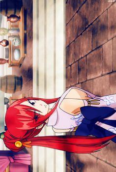 Erza Scarlet [Titania] of Fairy Tail. Anime Fairy Tail, Fairy Tail Girls, Fairy Tail Couples, Erza Y Jellal, Gruvia, Filles Fairy Tail, Erza Scarlett, Fairy Tail Erza Scarlet, Image Fairy Tail