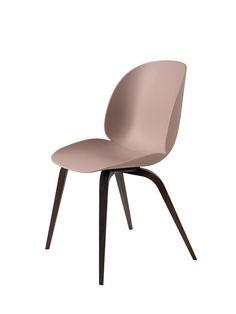 GUBI // Beetle Chair, wood base, by GamFratesi