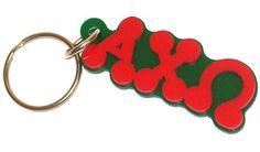 Alpha Chi Omega Bubble Letter Key Chain #Greek #Sorority #Accessories #Keychain #AlphaChiOmega #AChiO