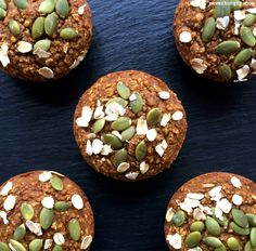 [Post #95 for 100 days of Vegan, Gluten-Free, Portable Power Pucks]I've done it.I've just made it that much harder for you to find an excuse for avoiding eating more vegetables!With these pumpkin-pepita power muffins, you get pumpkin (vegetable superstar!), plus whole...
