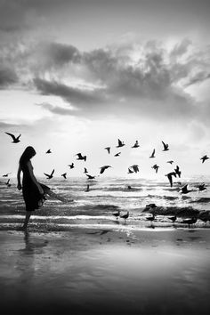 """She decided to free herself, dance into the wind, create a new language. And birds fluttered around her, writing 'yes' into the sky."" Anais Nin"
