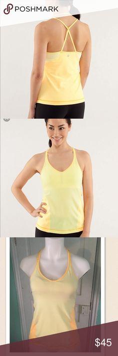 Lululemon Surya Tank Orange & Yellow sz6 Lululemon Surya Tank Orange & Yellow sz6. Excellent lululemon athletica Tops