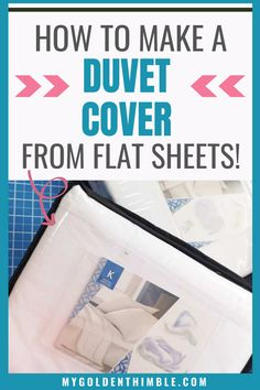 Fun Arts And Crafts, Arts And Crafts Projects, Diy Projects, Craft Projects For Adults, Sewing Projects For Beginners, Sewing Hacks, Sewing Tutorials, Duvet Cover Tutorial, Learn To Sew