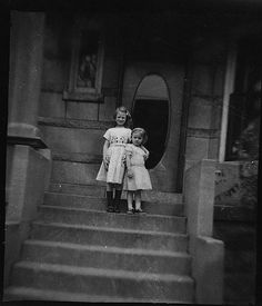 Chicago Girls    I found these negatives at an estate sale in Chicago's Wrigleyville neighborhood (the only reason to go to that neighborhood). The house in the photo is the house where I found them. I wonder where these girls are now?