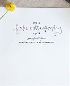 How to Fake Calligraphy on Joelle Charming
