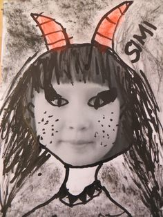 čertík z vlastního portrétu Advent, Devil, Disney Characters, Fictional Characters, Diy And Crafts, Disney Princess, Christmas, Art, Yule