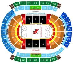 Prudential Center Seating Chart Tickets Inside Devils Chart24187