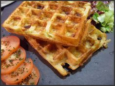 Gaufres salées : pommes de terre jambon raclette - Blog cuisine avec du chocolat ou Thermomix mais pas que Tupperware, Quiches, Breakfast, Ham, Chocolates, Apples, Savory Waffles, Thermomix, Morning Coffee