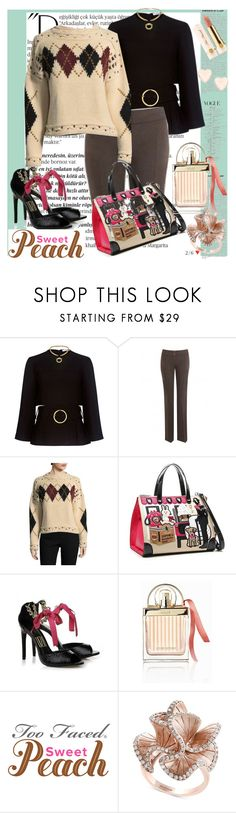 """""""peach and rose"""" by harrietta103 on Polyvore featuring Balmain, 10 Crosby Derek Lam, Isabel Marant, Tua, Chloé, Effy Jewelry, Ted Baker and Too Faced Cosmetics"""