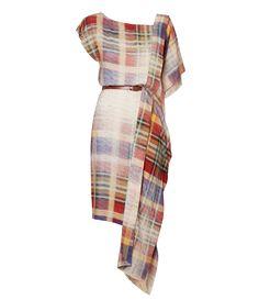 Faded Tartan Alaska Scarf Dress #Anglomania #AW1415