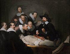 """""""Aula de Anatomia do Dr. Tulp"""".       (by Rembrandt Harmenszoon van Rijn).       # Mauritshuis. Haia, Holanda."""