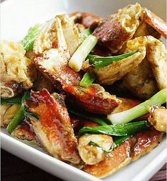 Ginger n scallion crab or beef