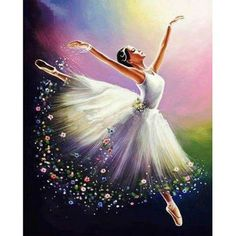 Diamond Painting Beautiful Ballerina Kit is part of pencil-drawings - You too can be an artist when you paint with Diamonds! Every kit gives you a chance to create a work of art you can be proud of This diamond painting kit Art Ballet, Ballerina Painting, Ballet Dancers, Ballerina Drawing, Ballerina Kunst, Dance Paintings, Painting Art, Watercolor Painting, 5d Diamond Painting