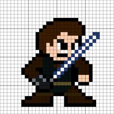 Anakin Skywalker Perler Bead Pattern Bryce Anderson Star Wars Pixel Art Beads