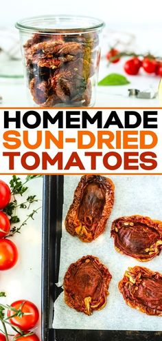 How to Make Sun Dried Tomatoes in the Oven or Dehydrator. This in oven homemade easy recipe for sun dried tomatoes is so tasty and is a lot simpler than you might think. Easy Clean Eating Recipes, Clean Eating For Beginners, Clean Eating Dinner, Recipes For Beginners, My Recipes, Italian Recipes, Crockpot Recipes, Favorite Recipes, Healthy Recipes