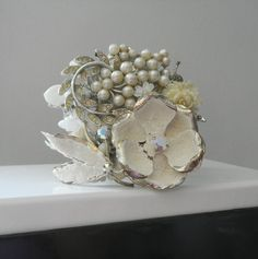 Hey, I found this really awesome Etsy listing at https://www.etsy.com/listing/152081846/snow-queen-chunky-white-cuff-bracelet