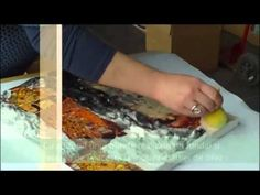 ▶ Tutorial tehnica TEX ART si DECUPAJ pe panza - YouTube