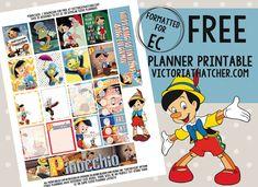 Pinocchio free printable planner stickers