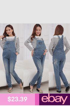 a61b9f2a56643 Maternity Overalls Jumpsuits Jeans Pregnancy Pants Denim Cute Classic M/L/XL
