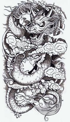 Chinese Dragon by Derrick Castle | Society6