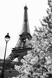 Картина эйфелева башня черно белая
