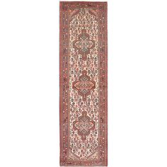 ecarpetgallery Hand-Knotted Koliai Blue, Brown Wool Rug (2'9 x 9'8)