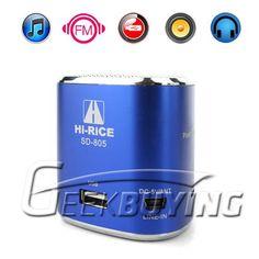 High Rice Micro SD TF USB Mini Stereo Speaker Music MP3 Player FM Radio $10.67