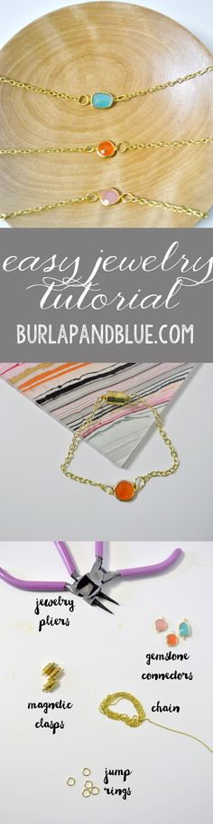Easy Gemstone Jewelry Tutorial by burlap+blue