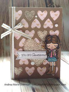 GIRLplusPAPER: CTMH A Bushel and a Peck Heart Card