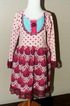 Abby Dress (sizes 18m, 2T,3T,4T & 6). $48.00, via Etsy.