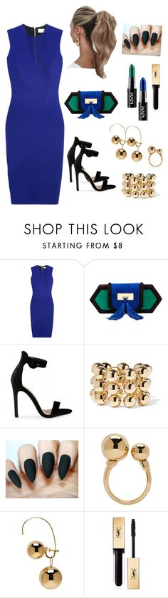 """""""Untitled #527"""" by gorgeouslor ❤ liked on Polyvore featuring Victoria Beckham, Balmain, Love Couture, Balenciaga, Chloé, Maison Margiela and electricblue"""