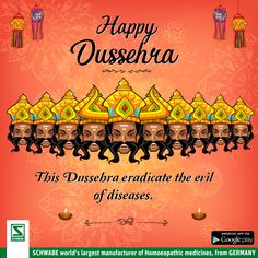 On the auspicious occasion of #Dussehra , celebrate the true triumph of good health and happiness with #SchwabeIndia.
