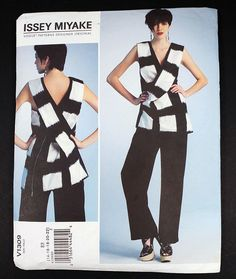 Issey Miyake V1309 Vogue Patterns Designer Original Misses Tunic and Pants 14-22 #Vogue