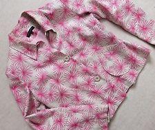 Betty Jackson Debenhams Amazing Linen Shirt Jacket Blazer size 12-14