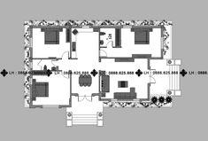 BIỆT THỰ 1 TẦNG MÃ SỐ BT1-063 - Công ty cổ phần tư vấn kiến trúc xây dựng Nhà Phương Đông Floor Plans, Architecture, Model, Arquitetura, Scale Model, Architecture Design, Models, Template