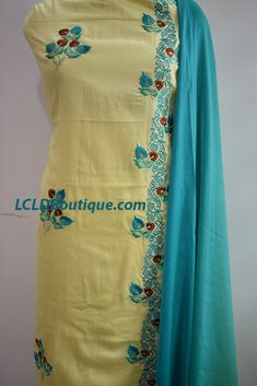 Are you looking for Beautiful Machine embroidered Suit ?Buy Thread Work Salwar Suits & Thread Work Salwar Kameez Online for women at best prices Embroidery Suits Punjabi, Kurti Embroidery Design, Embroidery Fashion, Embroidery Dress, Vintage Embroidery, Embroidery Patterns, Punjabi Suits Designer Boutique, Boutique Suits, Designer Salwar Suits