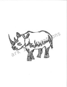 Rhinocerous. $20.00, via Etsy.
