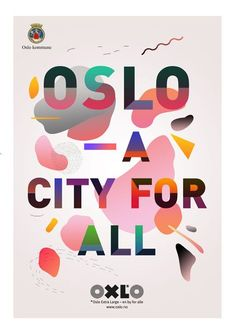 Oslo kommune by Christina Magnussen Pleasing. Cheerful on a snowy Oslo day. Graphic Design Posters, Graphic Design Typography, Graphic Design Inspiration, Oslo, Design Graphique, Art Graphique, Cultura Maker, Layout Design, Print Design