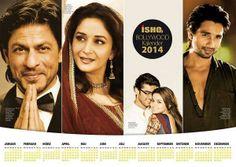 Embedded image permalink-ISHQ-Bollywood Calendar 2014 @Omg SRK @Madhuri Dixit @Shahid Kapoor