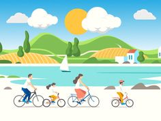 Summer time animation by Andrey Sergunin on Dribbble Summer Time, Animation, Creative, Design, Decor, Decoration, Daylight Savings Time, Animation Movies