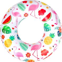 Feather Decoration Inflatable Adult Kids Swimming Ring Inflatable Pool Float Circle For Adult Children Aromatic Flavor Accessories Swimming Pool & Accessories