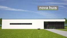 NOVA-HUIS Moderne gelijkvloerse bungalow met plat dak ontwerpen en bouwen A33