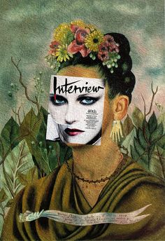 Self Portrait Dedicated to Kristen Stewart Kristen Stewart, Interview Magazine October/November 2009 + Self Portrait Dedicated To Dr Eloesser by Frida Kahlo