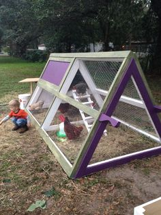 A frame chicken coop for 5 hens Total cost: around 200.00 So much fun!!!