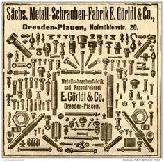 Original-Werbung/ Anzeige 1912 - METALLWARENFABRIK UND FAÇONDREHEREI GÖRLDT DRESDEN - PLAUEN- ca. 100 x 90 mm