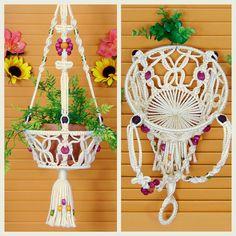 Macrame Hanging Basket 8 Fruit Bowl Vegetable Holder