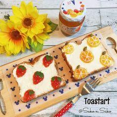 * * #トーストアート その②* * #いちごジャム で ☑︎いちごトースト * #あんずジャム で ☑︎オレンジトースト * * パンの上には #クリーミースムース  塗ってます♡ * なんだか、雑ですね…。 リベンジかな⍨⃝ * * あんずジャム 美味しいーー♡♡ * * * いつもありがとうございます( ´͈ᵕ`͈ ) * * * *  #食パンアート #ジャムアート  #トーストアレンジ  #locari_kitchen #lin_stagrammer  #instagramjapan #toastart #toast  #朝ごパン #朝ごパン #おうちごはん #おうちカフェ #お昼ごパン #ブランチ #うちカフェ #パン #食パン #デニッシュ #おうちおやつ  #fooddeco #今週もいただきます  #アヲハタ #フルーツ柄 #クッキングラム #ママリスタイル #cutefood #kawaiifood